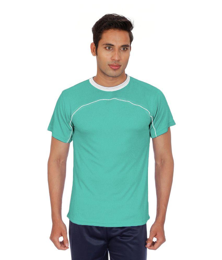 Sportee Green Polyester T-Shirt