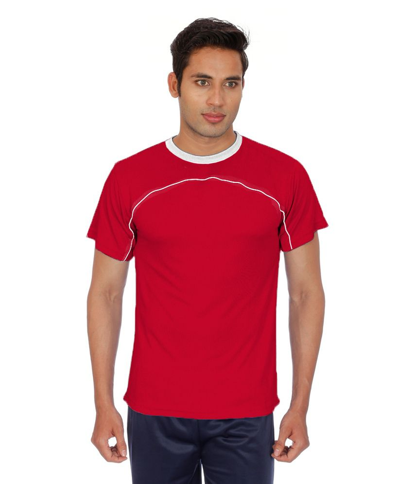 Sportee Red Polyester T-Shirt