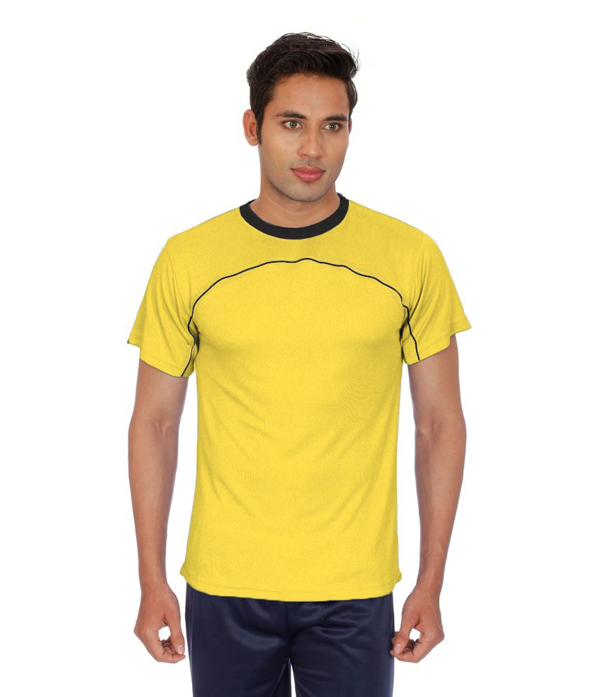 Sportee Yellow Polyester T-Shirt