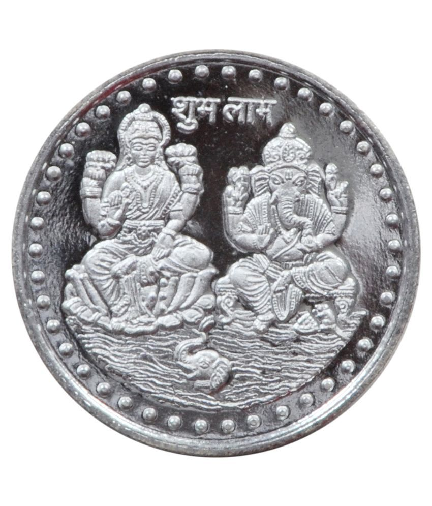 Upto 50% Off On Silver Coins & Bars By Snapdeal | Vridaann Silver Plated Laxmi Ganesh Coin of 10 gm @ Rs.151