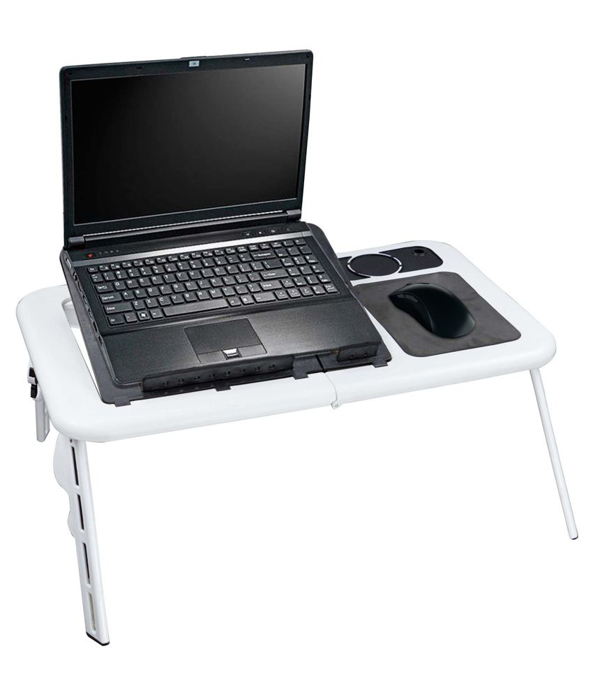 avenue cooling pad laptop table white and black cooling tables
