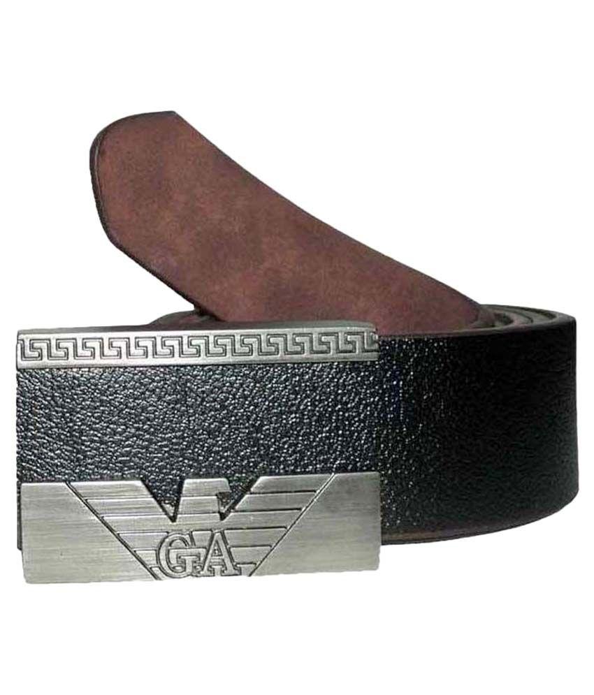 Mode Genuine Leather  Casual Black Color  Autolock Buckle Belt For Men