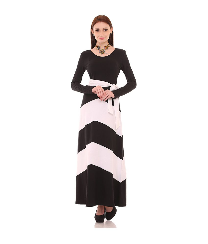 Legona Black Cotton Maxi Dress