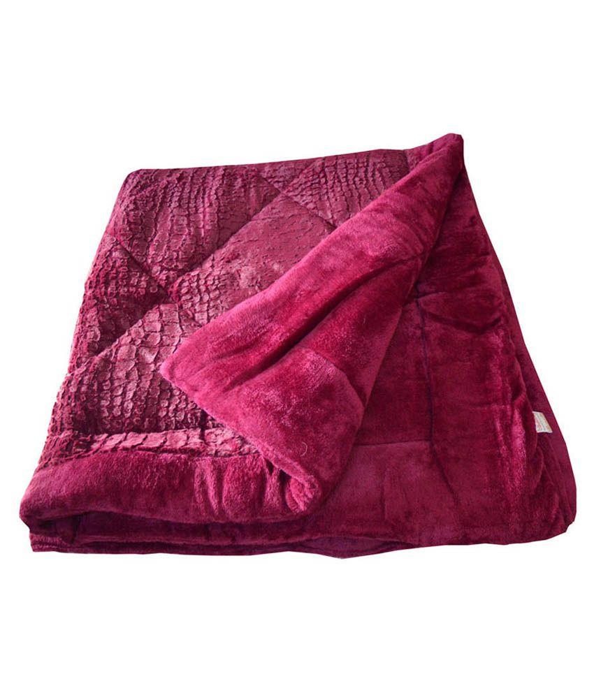 Satcap Multicolour Polyester Checks Comforter Best Price