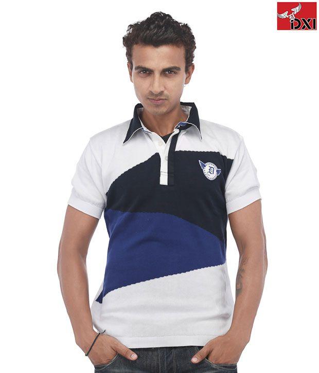 DXI Navy Cotton T-Shirt