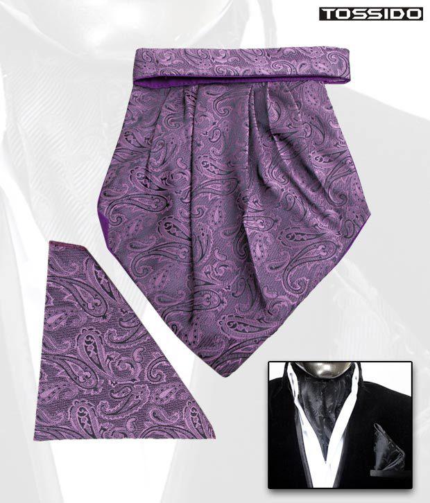 Tossido Exclusive Purple Cravat & Square Pocket Set