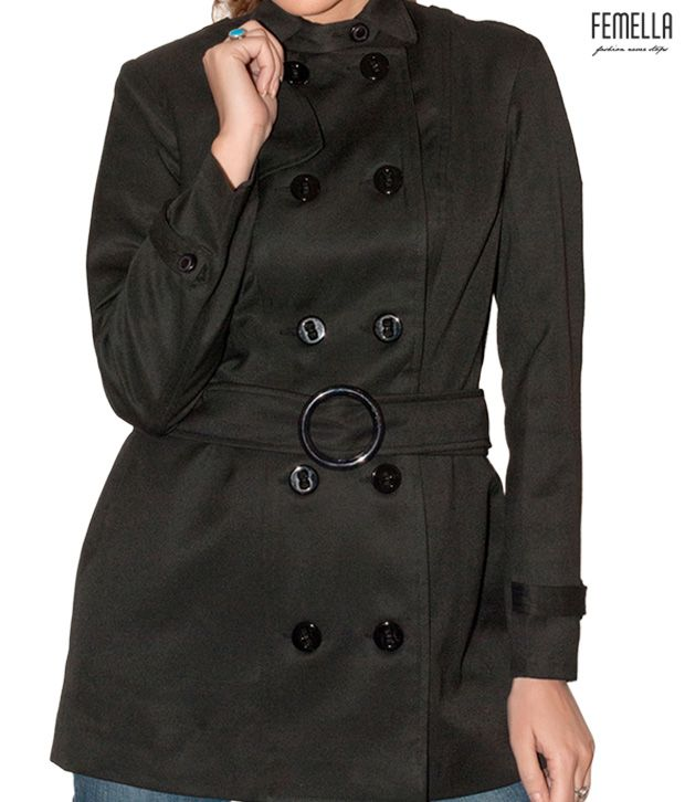 Femella Bewitching Black Overcoat