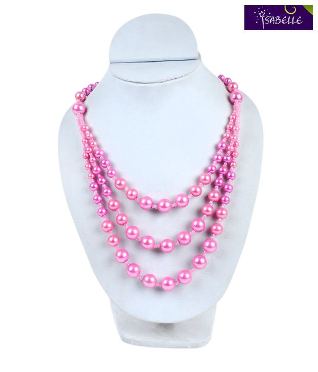 Isabelle Beautiful Pink Pearl String Necklace For Kids