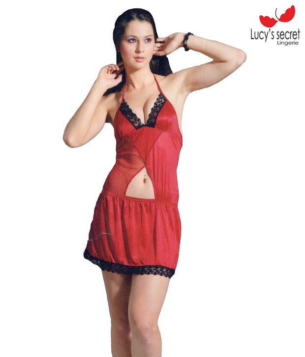 Lucy Secret Erotic Red Baby Doll Dress
