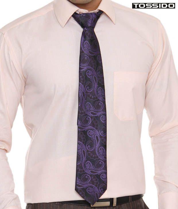 Tossido Purple Printed Tie