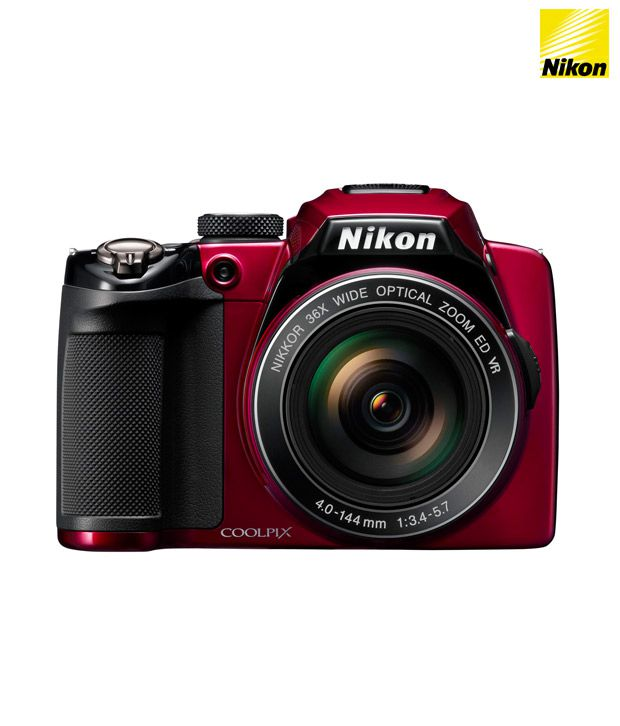 Nikon Coolpix P500 12.1MP Point & Shoot Camera (Red)