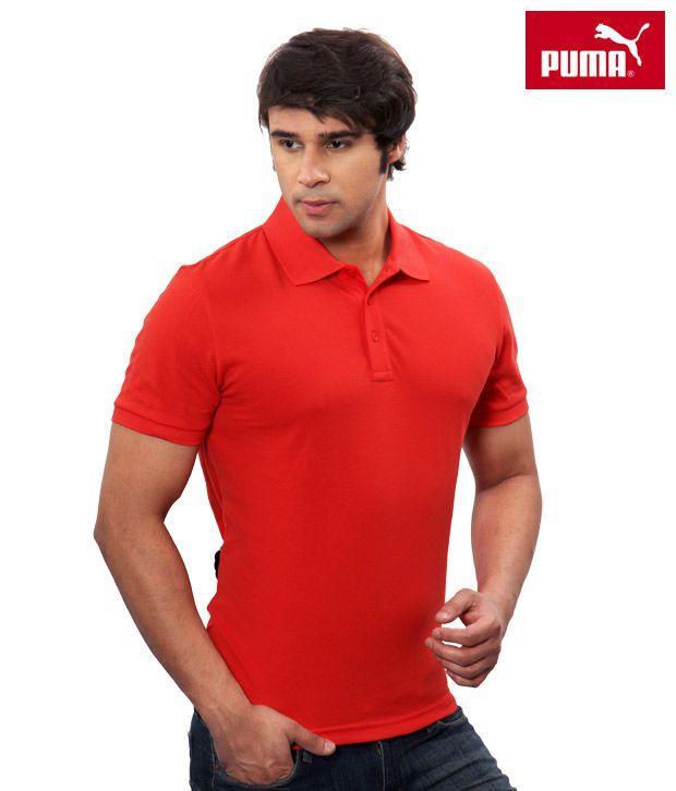 Puma Radiant Red Polo T-Shirt