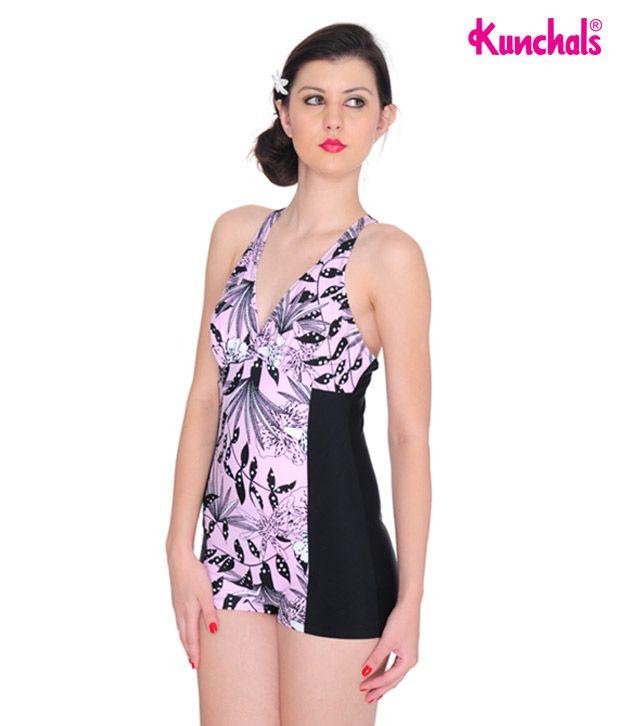 Kunchals Pink Polyamide and Elastane Lycra Swimwear