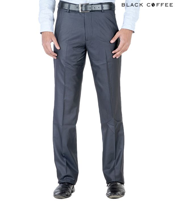 Black Coffee Pale Navy Blue Trousers