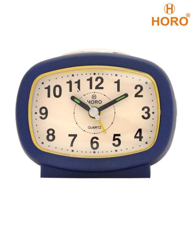 Horo Dark Blue Table Clock