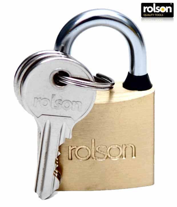 Rolson Brass Pad Lock