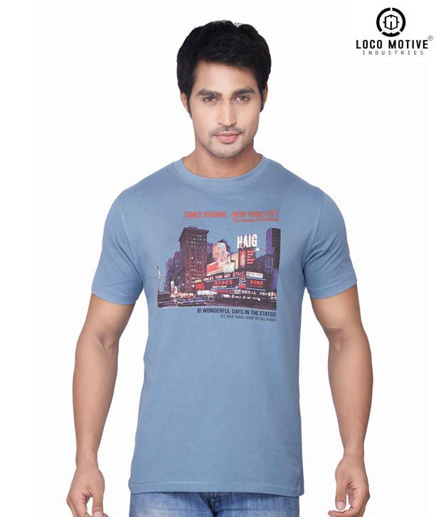 Locomotive Wonder Light Blue T Shirt