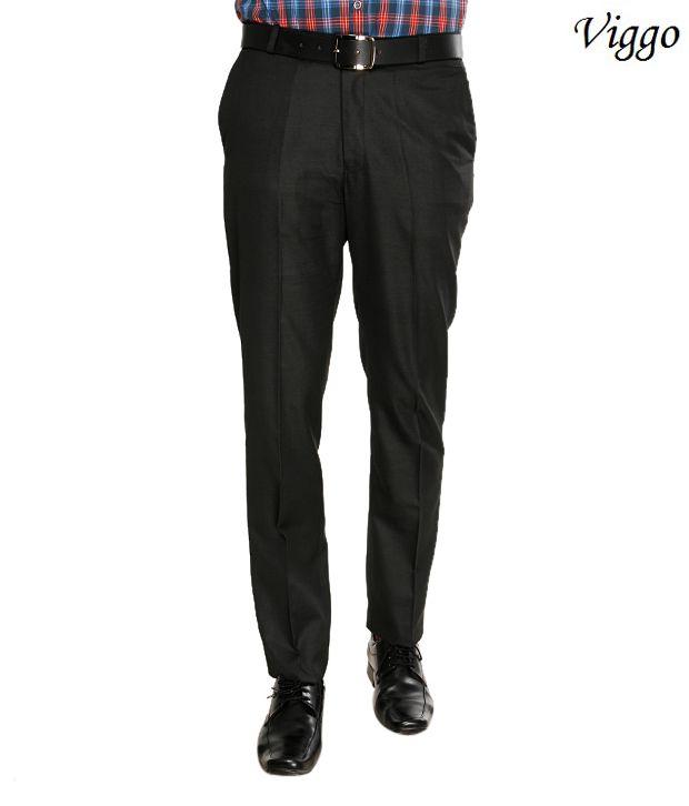 Viggo Dashing Black Trousers