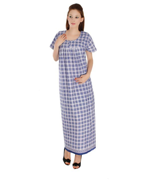 Plums And Peaches Checkered Nighty