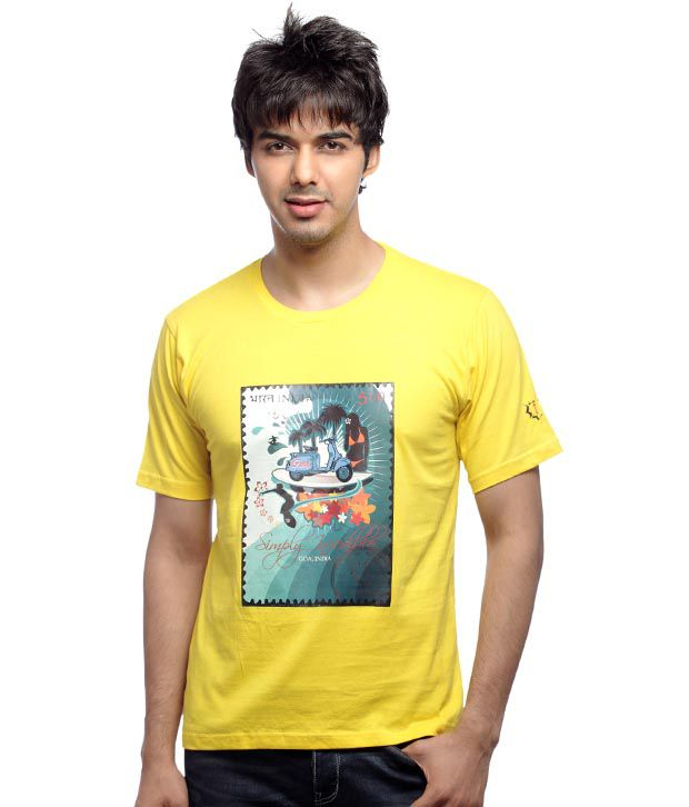 Inkfested Men's Goa Yellow T-shirt