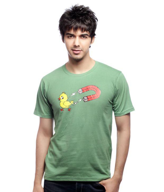 Inkfested Men's Chick Magnet Green T-shirt