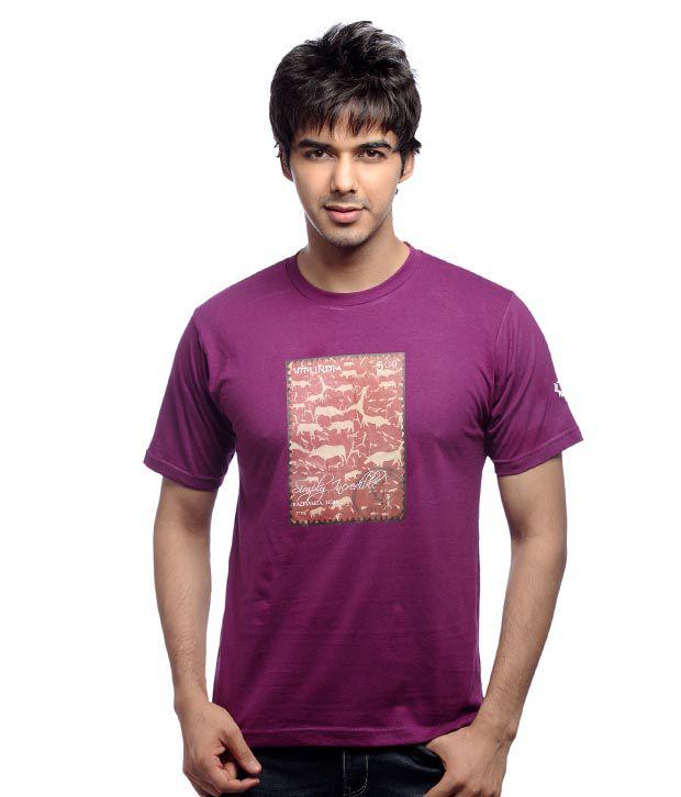 Inkfested Men's Kaziranga Purple T-shirt