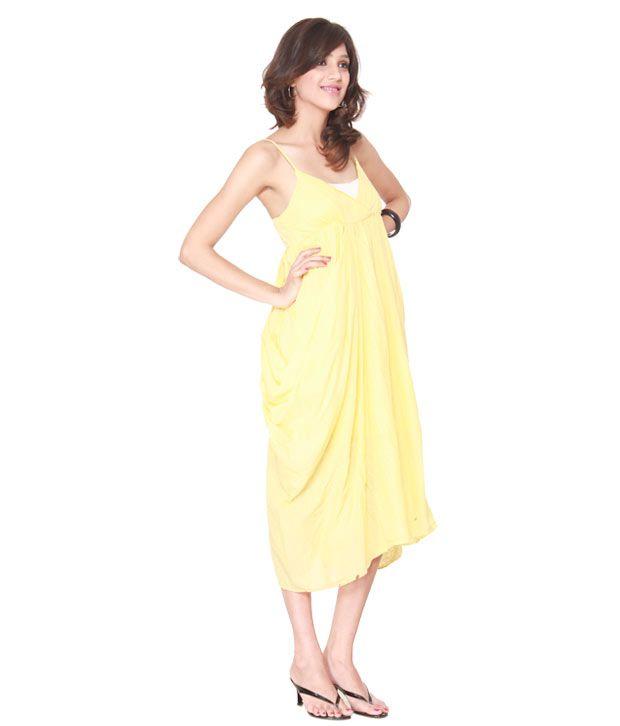 Lieben Mode Pleasant Yellow Dress