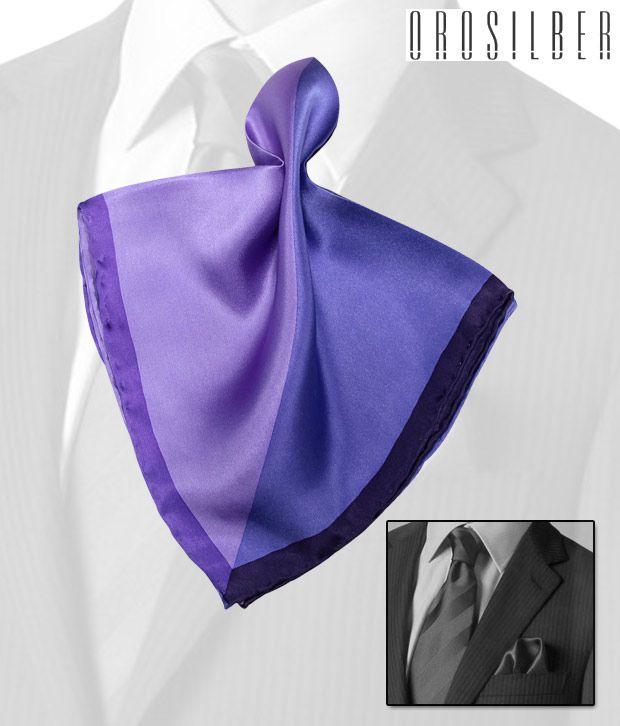Orosilber Shades Of Purple Radiant Silk Pocket Square