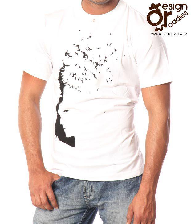 Design Roadies Freedom Men'S White T-Shirt