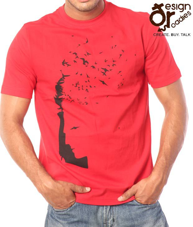 Design Roadies Freedom Men'S Red T-Shirt