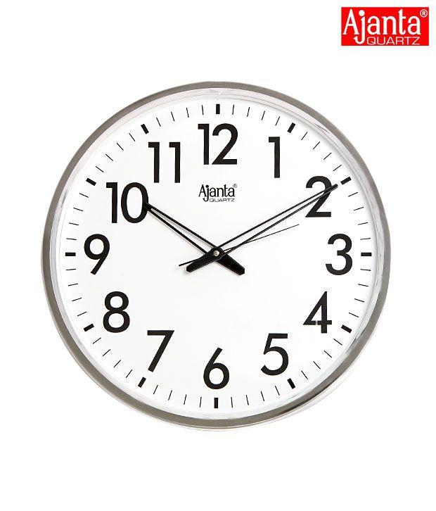 Ajanta Classy White Wall Clock Buy Ajanta Classy White Wall Clock At Best Price In India On