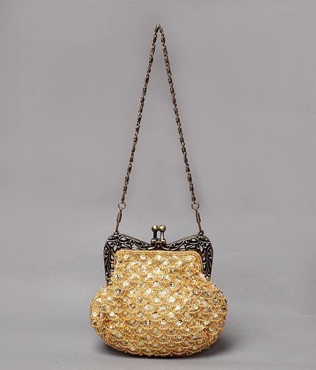 Bolso Golden & Bronze Fad Design Clutch