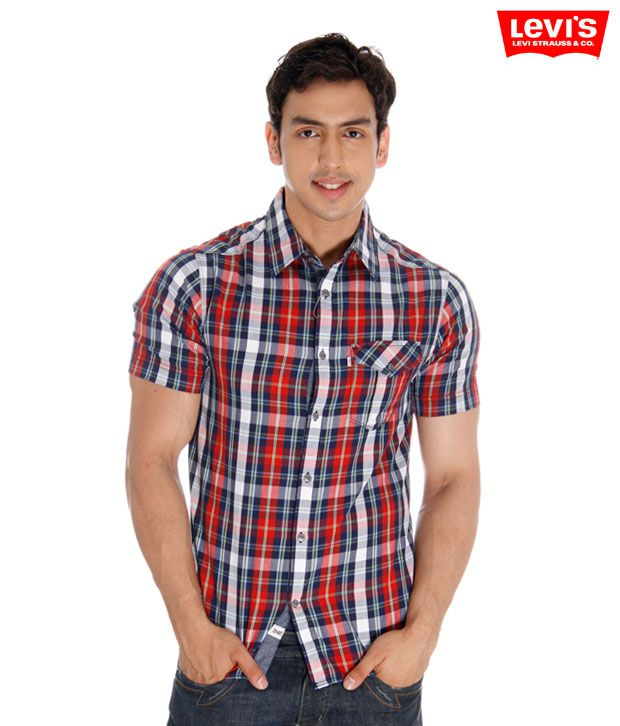 Levi's Red-Blue Checkered Shirt