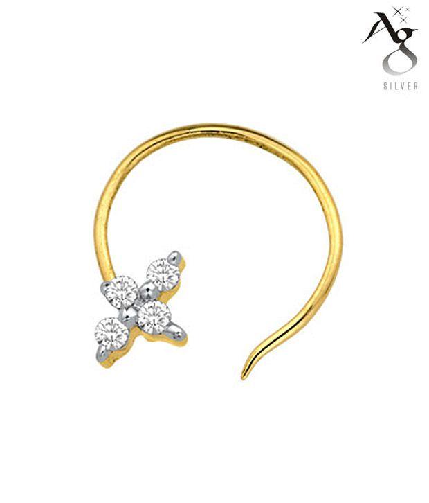 AG 4 Diamond Gorgeous Nose Ring