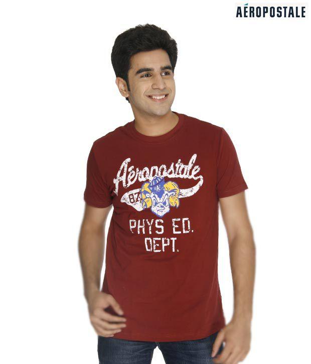 Aeropostale NY Maroon T-Shirt