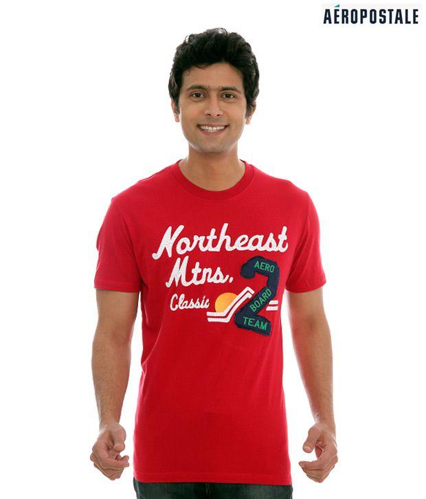 Aeropostale Northeast Mtns Red T-Shirt