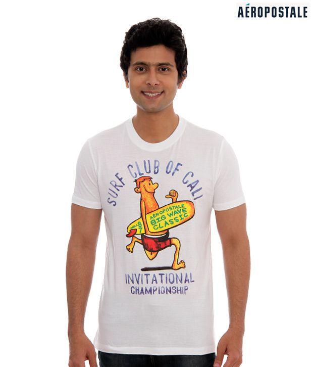 Aeropostale Trendy White T-Shirt