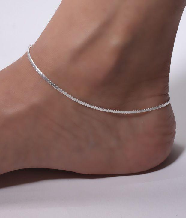 Erato Silver Anklet