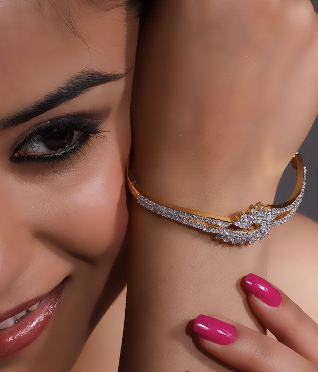 NJE Beautiful American Diamond Bracelet