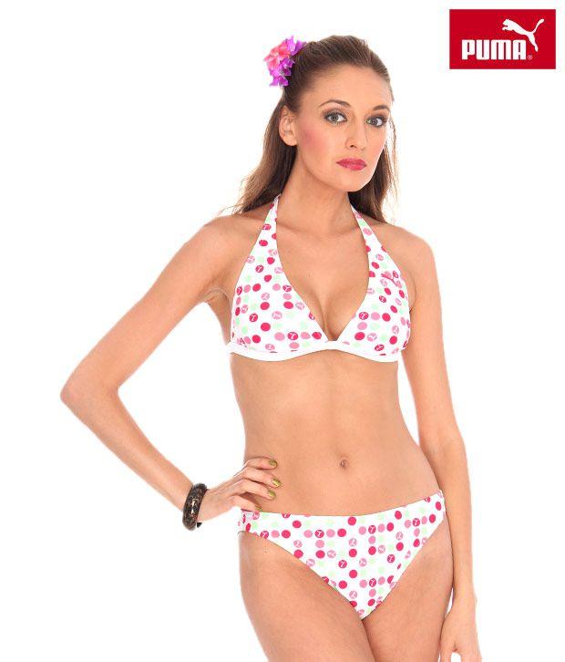 Puma White Bikini Set