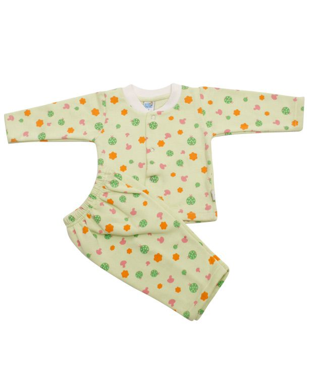 Beau Monde Fully Hodded Lemon Cotton Suit For Kids For Kids