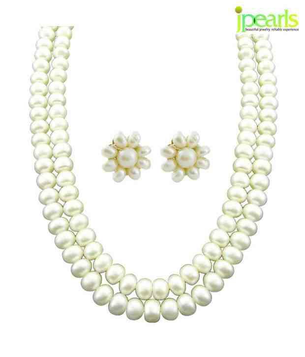 Sri Jagdamba Pearls New Two Line Pearl Neckalce