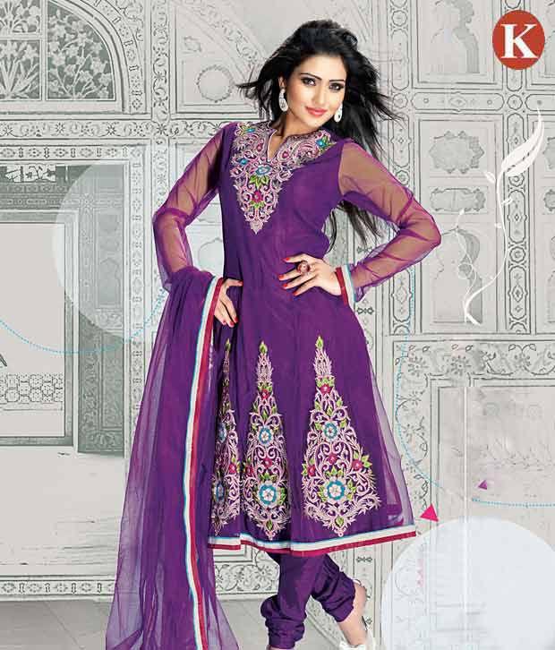 Khazana Violet Superb Heavy Embroidered Salwar Suits