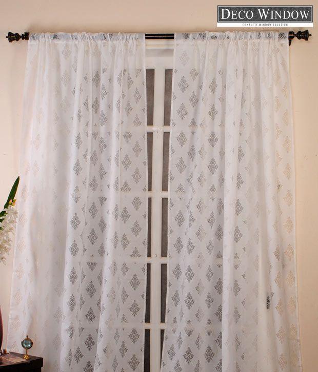 Deco Window White Designer Curtain