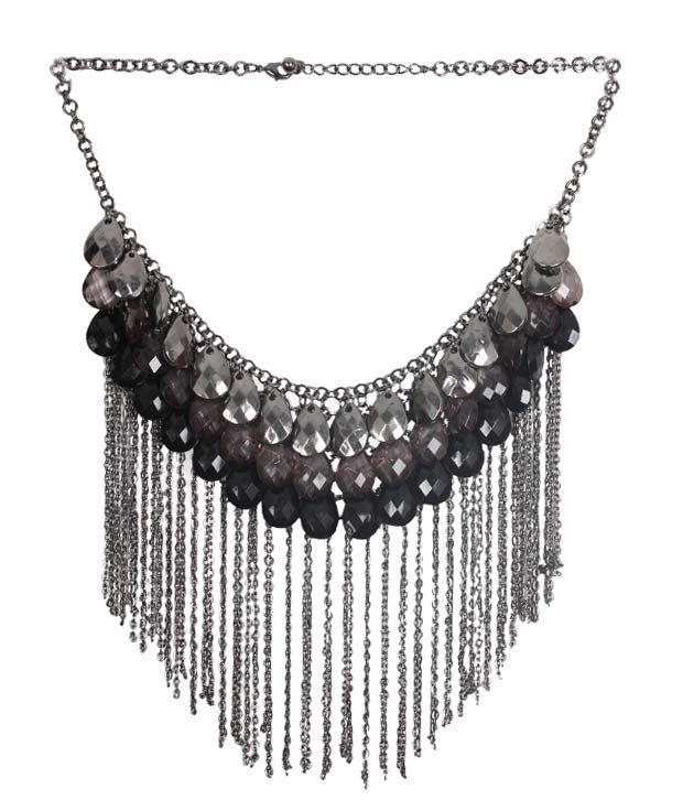 Embellish Shimmery Metallic Necklace