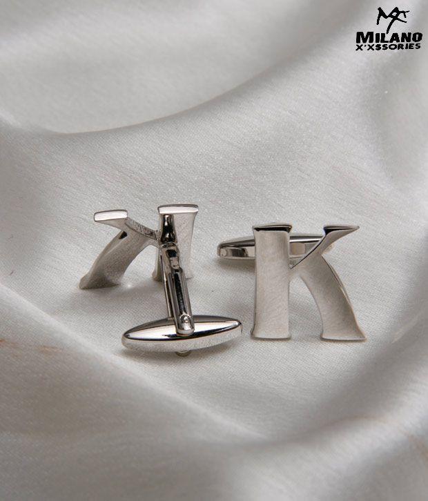 Milano X'xssories Alphabet K Cufflink