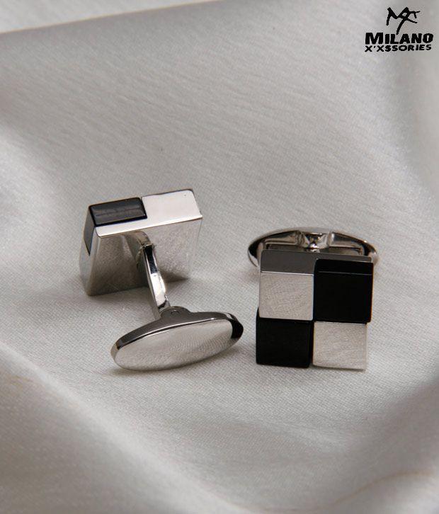 Milano X'xssories Chequered Stone Cufflinks