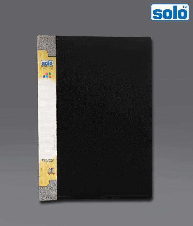 Solo Black Extra Large Pocket File (DF 210) - 4 pcs pkt