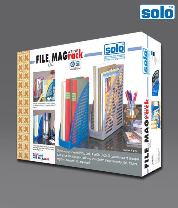 Solo Black File And Magazine Rack (FS 201) - 2 pcs pkt