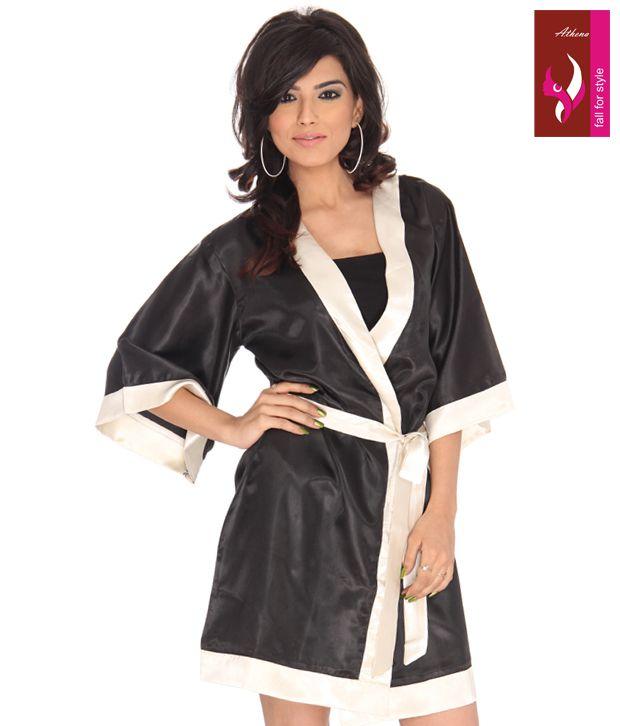 Athena Multi Satin Robe